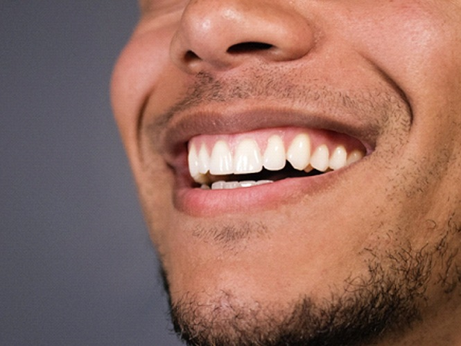 closeup of man's attractive smile